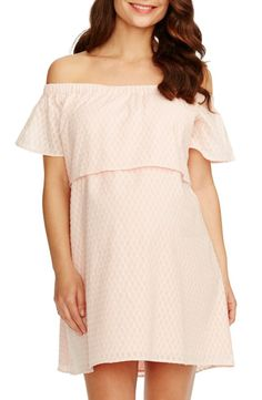 1e039622ca867 ROSIE POPE 'Camille' Off the Shoulder Maternity Dress Maternity Dresses,  Spring Maternity,