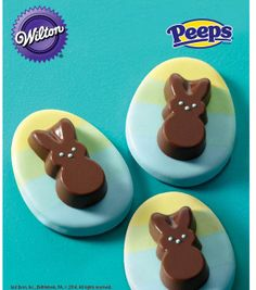Chocolate Bunny Ombre Cookie from @Wilton Cake Decorating Cake Decorating #livelovebake