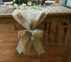 ON SALE Burlap Table Runner Plain with Burlap by FairStreetCrafts