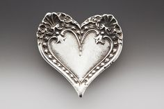 heart pin from old spoons~love, love♥