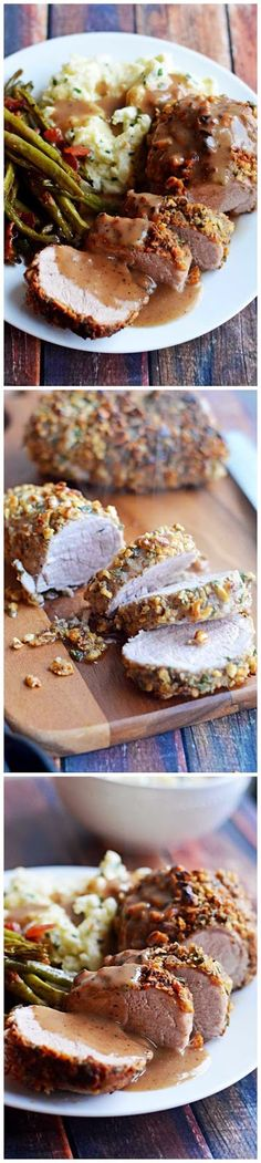 pork tenderloin with apple cider gravy walnut crusted pork tenderloin ...