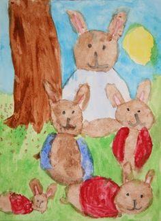 Peter Rabbit watercolor fun!