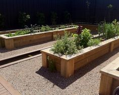 small wooden containers for garden design