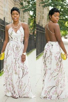Love the whole look. Backless Maxi Dresses, Sexy Dresses, Cute Dresses, Maxi Skirts, Cute Outfits, Summer Dresses, Do It Yourself Fashion, Plus Size Fashion, Curvy Fashion