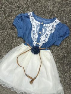 Denim Lace Tutu DressCowgirl/Rustic Country by MarryMeGirlBoutique, $35.00