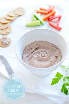 Kidney bean and olive dip