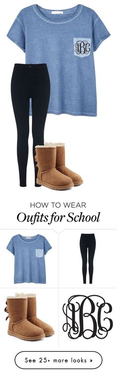 """Last day of school b4 spring break!!!!//Cara Elizabeth"" by pearls-and-prep on Polyvore featuring MANGO, Miss Selfridge and UGG Australia"