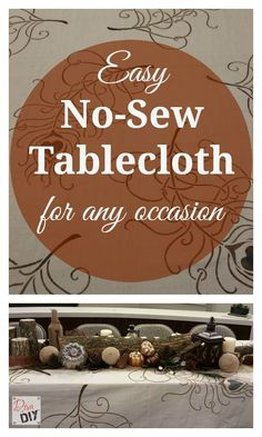 Easy Homemade Tablecloth