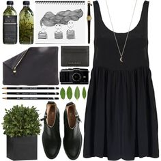 """""""DAY WEAR - THERE'S A LEAF IN YOUR HAIR."""" by pretty-basic on Polyvore"""