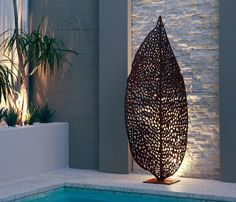 Designed and manufactured in Perth, Western Australia, Q DESIGN laser cut metal sculpture and garden art pieces can be used in fully exposed outdoor applications. Contemporary Outdoor Furniture, Outdoor Furniture Design, Garden Wall Art, Metal Garden Art, Outdoor Wall Art, Outdoor Walls, Outdoor Life, Outdoor Decor, Outdoor Screens