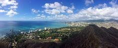 View from Diamond Head, Waikiki.  3/4 mile up hill hike.  Hawaii.  Absolutely breathtaking!  #hawaii #waikiki #hike #scenic #view