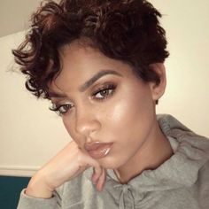 New Pixie Hairstyles for Women 2019 - women hairstyles Black Hair Inspiration, Makeup Inspiration, Short Haircut Styles, Short Haircuts, Short Hairstyles, Short Styles, Curly Hair Styles, Natural Hair Styles, Updos For Medium Length Hair
