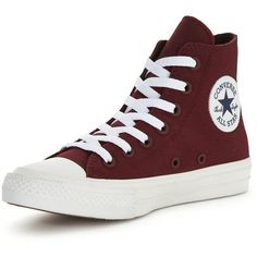 Converse Chuck Taylor All Star Ii Evergreen Hi-Top Trainer ($86) ❤ liked on Polyvore featuring shoes, sneakers, high top shoes, fleece-lined shoes, hi tops, breathable sneakers and star shoes