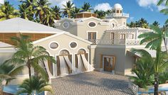 The exterior is simple and beautiful, as seen in this rendering, allowing the view to be the real focus. Dominican Republic, Classic Beauty, Places To Visit, Exterior, Honeymoon Ideas, Dreams, Mansions, Photo And Video, Luxury