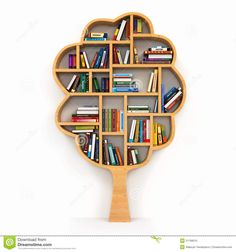 Education Concept. Bookshelf With Books As Like Symbol. Stock ...