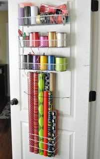 Shes crafty: Gift Wrap organizer