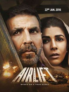 Check out the latest poster of Akshay Kumar-Nimrat Kaur starrer Airlift! - Airlift poster: The new look of Akshay Kumar - Nimrat Kaur starrer will give you GOOSEBUMPS! All Hindi Movie, Movie Songs, Hindi Movies, Film Movie, Akshay Kumar, Streaming Hd, Streaming Movies, Indian Video Song, Movie Subtitles