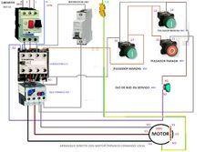 Esquemas eléctricos: arranque de un motor trifasico con comando local