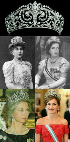 Royal Crown Jewels, Royal Jewelry, Royal Tiaras, Tiaras And Crowns, Princess Victoria, Queen Victoria, Royal King, Spanish Royal Family, Queen Letizia