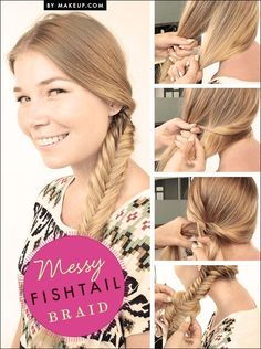 messy fishtail braid tutorial // easy, yet sophisticated | Hair - popular hair tutorials photo