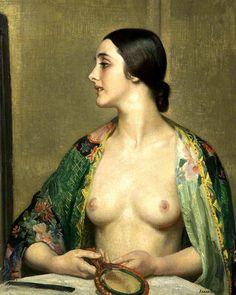 /// Knight, Laura (British, 1877-1970) - A Theatre Dressing Room
