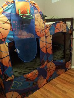 Bunkbed Cover Made from Repurposed Playhut - Sweet Deals 4 Moms