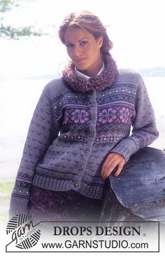 Nordic - Free knitting patterns and crochet patterns by DROPS Design Punto Fair Isle, Tejido Fair Isle, Motif Fair Isle, Fair Isle Pattern, Fair Isle Knitting Patterns, Sweater Knitting Patterns, Knit Patterns, Free Knitting, Drops Design