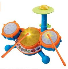 New Vtech KidiBeats Drum Set Kids Music Toys Toddlers Baby Gift Learn Music Fun #VTech