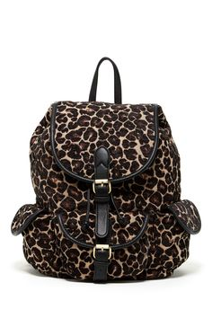 687972b4b35a Street Level Aztec Leopard Print Backpack by Street Level on  @nordstrom_rack Aztec, Fashion Backpack