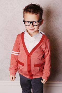 Red Slub Cardigan from Taylor Joelle Designs on zulily boy fashion style k Little Boy Fashion, Kids Fashion, Cute Kids, Cute Babies, Outfit Man, Kid Swag, Stylish Kids, Kid Styles, Swagg