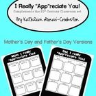 This freebie includes tech. themed printables for Mothers Day and Fathers Day.