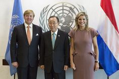 Royals & Fashion - King Willem Alexander and Queen Maxima met with UN Secretary General Ban Ki Moon in New York.