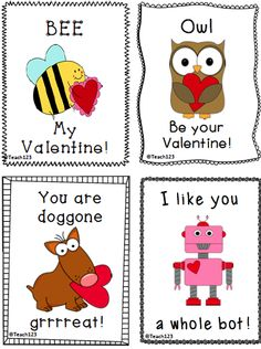 teach123 free printable valentines just in case students forgetdont bring valentines