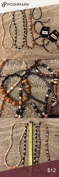 Lot of 7 Puerto Rican Necklaces  & Bracelets GREAT STOCKING STUFFERS!! 💕🌸💕Straight from Puerto Rico! 🌺 I have a lot of 3 necklaces and 4 bracelets. All are brand-new. Two have tags on them. Three of the bracelets are adjustable. All for one low price! Jewelry