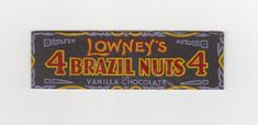 How many Brazil Nuts? Lowney's gave you 4. Very early Depression-era cellophane wrapper from a long time ago.