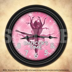 Dancer's Time Wall Clock Dance Teacher by DecorativeTime on Etsy