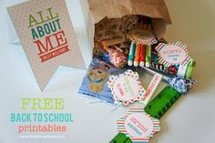 """All About Me"" Back to School Printables . free printables for #Allaboutme #freeprintable #backtoschool #editablelabels  I want to b a... My favorite..._ rules, etc. http://www.iheartnaptime.net/all-about-me-back-to-school-printables/"