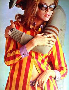60's style stripes