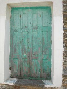 Samos Greece Griekenland vakantie greek doors by dcolaris, via Flickr