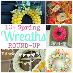 A bunch of great Spring wreaths