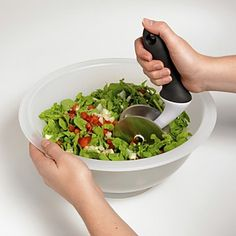 OXO Salad Chopper & Bowl | Bloomingdale's  I need this, my bites are ginormous lol