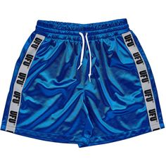 UFU TAPE SHORTS_BLUE ($61) ❤ liked on Polyvore featuring shorts, short and short shorts