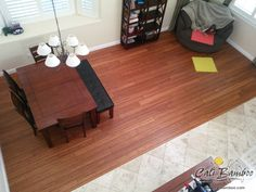 Distressed Wood Floors - Golden Amber and Aged To Perfection | Distressed Mocha - Cali Bamboo