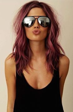 Burgundy Hair Color Ideas: Best Hairstyles for Maroon Hair (May - Hair - Hair Hair Color Purple, Cool Hair Color, Burgundy Color, Dark Pink Hair, Light Burgundy Hair, Unique Hair Color, Short Burgundy Hair, Ombre Colour, Violet Hair