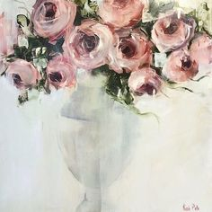 Nicole Pletts. Pink Roses.  Love it #artist #artblog #art #art #artwork #painter #painting #paintings #paintingflowers #floralpainting #flowerpainting #floralart #florals #amazingart #abstractflowers #abstractpainting #modernimpressionism #modernart #contemporaryart #contemporarypainting #nicolepletts #lovepainting #roses #живопись #живописьцветы #живописьмаслом #живописьдляинтерьера #художник #interiorpainting #interiorart