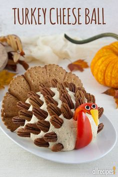 Make this Turkey Cheese Ball for Thanksgiving. Click to get step by step instructions tips for making for your Thanksgiving dinner.