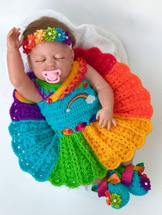 Baby crochet patterns Rainbow Baby dress Pattern Crochet