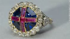 british crown jewels -Royal ring worn by Queen Mary 1 and Queen Elizabeth 1 (I believe it was King Henry VIII's)