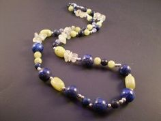 Iris available at http://www.etsy.com/shop/OldNNew4U #natural gemstones, #jewelry, #Necklace, #Fashion, #Fall, #Beaded