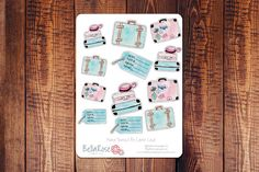 Travel Watercolor Planner Stickers//Bella Rose Paper Co #travel #watercolor #plannerstickers #planneraddict